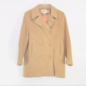 Talbots | Camel Colored Wool Pea Coat Size 10